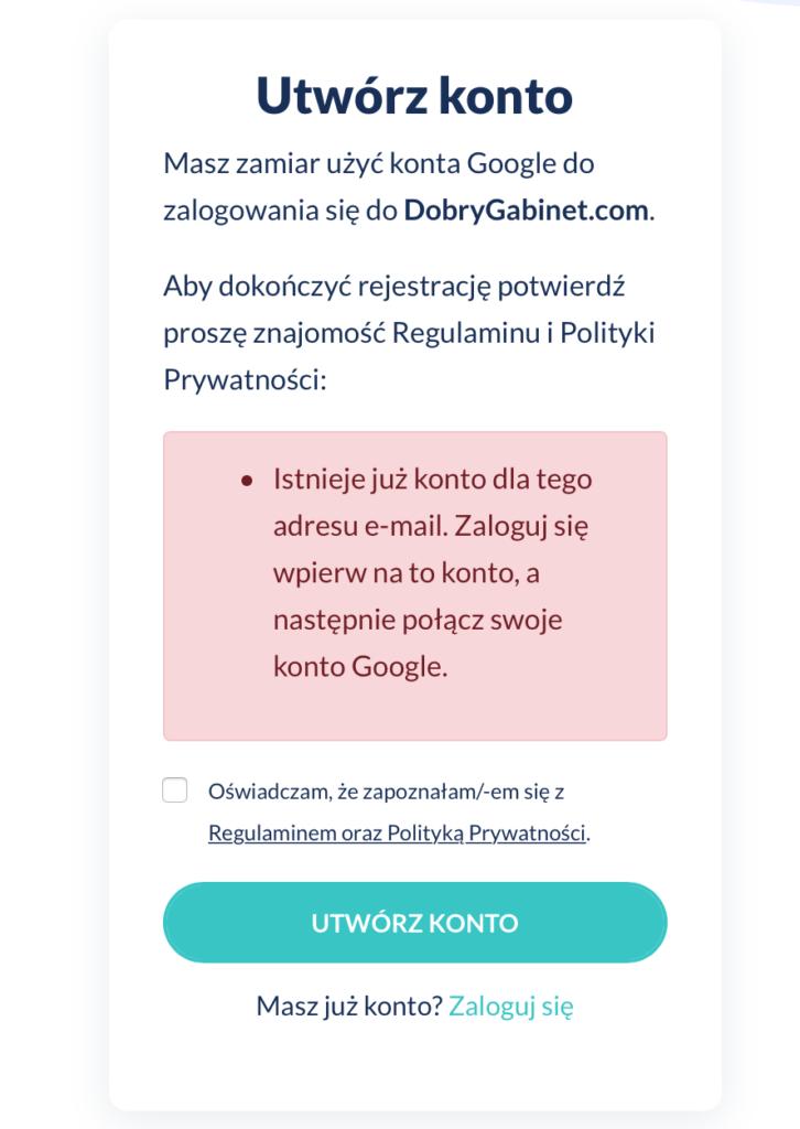 Połącz konto z kontem Google