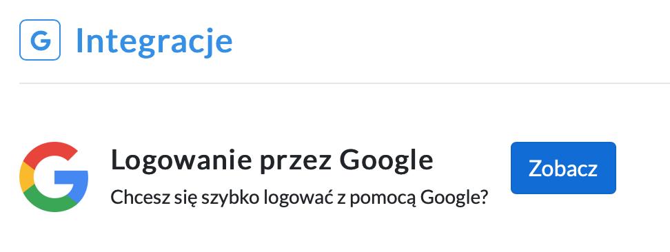 Integracja z kontem Google