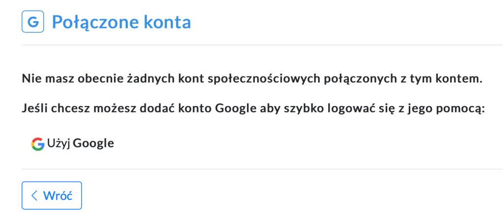 Ekran połączonych konto